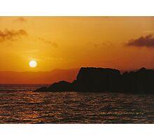 Sun Setting Over Dent Island © Vicki Ferrari Photographic Print