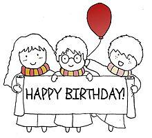 Harry Potter Happy Birthday Photographic Print