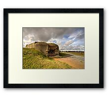 Normandy gun  Framed Print