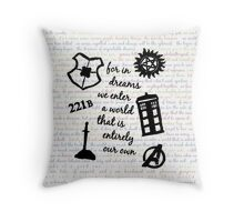a world that is entirely our own Throw Pillow