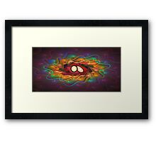 'Light Flame Abstract 141' Framed Print