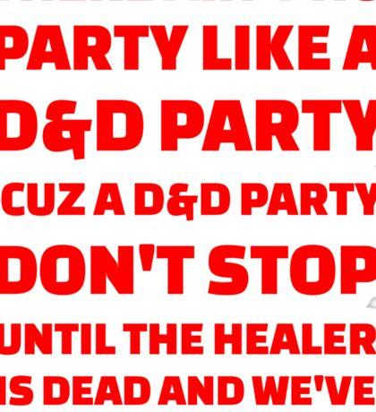 D&D Party Sticker