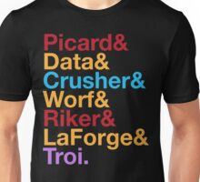 STAR TREK TNG The Next Generation Crew Names Ampersand Unisex T-Shirt