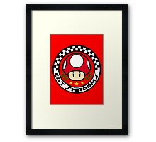 Eat Shrooms Framed Print