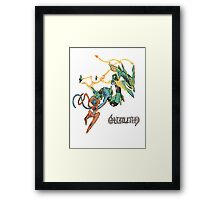 Owain's Deoxys & Mega Rayquaza Framed Print