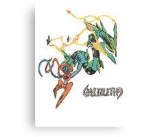 Owain's Deoxys & Mega Rayquaza Canvas Print