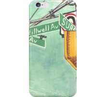 coney island street signs iPhone Case/Skin