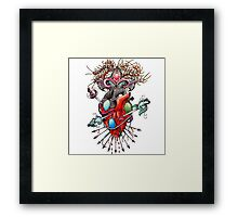 wounded heart Framed Print