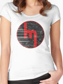 60's Miata Badge red Women's Fitted Scoop T-Shirt