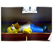Homer At The Tanning Salon Poster