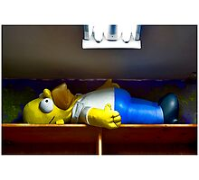 Homer At The Tanning Salon Photographic Print