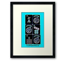 "Lucky Sevens and Jokers ""Mahjaholic"" #10 ~ Mah Jongg Series Framed Print"