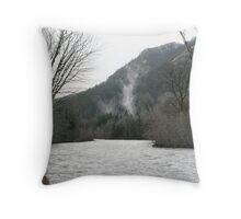 """Elwha River Flood"" Throw Pillow"