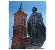 Smithsonian Castle & Joseph Henry Statue Poster