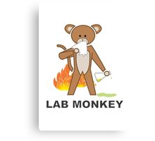 Lab Monkey Canvas Print