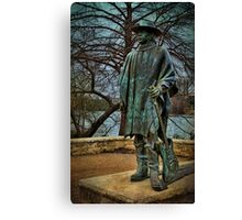 Stevie Ray Vaughan Statue Canvas Print