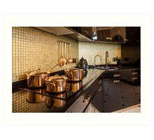 luxury  kitchen Art Print