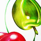 Cherry & Olive by JoanOfArt
