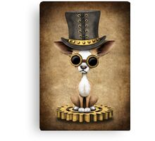 Cute Steampunk Chihuahua Puppy Dog Canvas Print