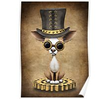 Cute Steampunk Chihuahua Puppy Dog Poster