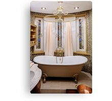 interior bathroom in classic style Canvas Print