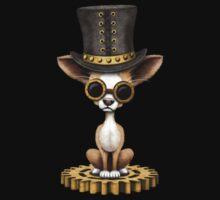Cute Steampunk Chihuahua Puppy Dog One Piece - Short Sleeve