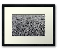 old smooth cobblestones Framed Print