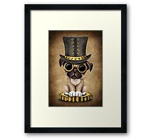 Cute Steampunk Pug Puppy Dog Framed Print