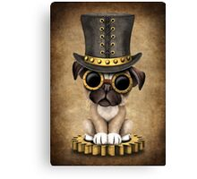 Cute Steampunk Pug Puppy Dog Canvas Print