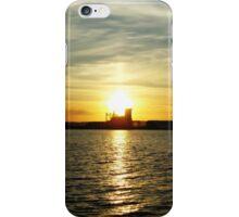 Lake Superior Sunset, Duluth/Superior Harbor iPhone Case/Skin