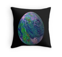Psychadelice Easter Egg 3 Throw Pillow