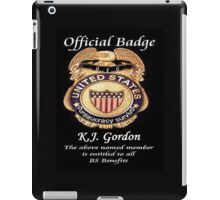 #010.........MY OFFICIAL BS BADGE iPad Case/Skin