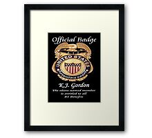 #010.........MY OFFICIAL BS BADGE Framed Print