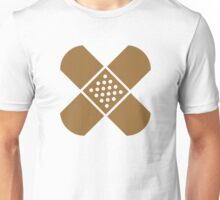 Crossed band-aids Unisex T-Shirt