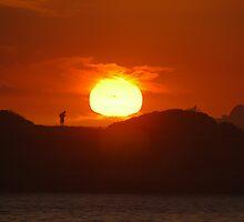 MILLENNIUM SUNRISE AT NOBBYS by Phil Woodman