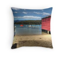 The Boatsheds Throw Pillow