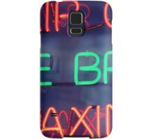 Hair color - eye brow waxing neon sign in NYC Samsung Galaxy Case/Skin