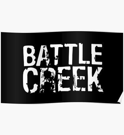 Battle Creek - White Poster
