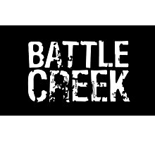 Battle Creek - White Photographic Print
