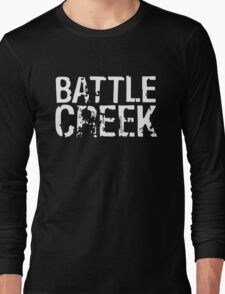 Battle Creek - White Long Sleeve T-Shirt