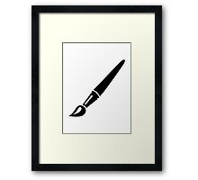 Painter brush Framed Print
