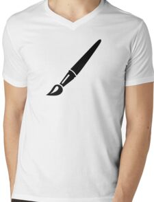 Painter brush Mens V-Neck T-Shirt