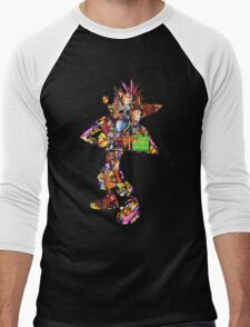 Crash Bandicoot  Men's Baseball ¾ T-Shirt