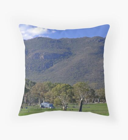 Woolshed In The Hills Throw Pillow