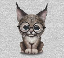 Cute Baby Lynx Cub Wearing Glasses Kids Clothes