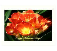 You light up my world, Happy Valentine's Day Art Print