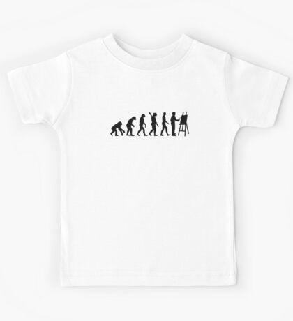 Evolution Painter Kids Tee