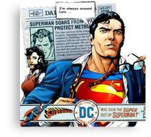 "Superman ""I'm always here Lois"" Comic Canvas Print"