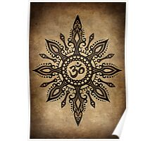 Intricate Yoga Om Star  Poster