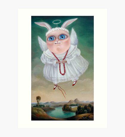 Lake of Mermaids 50 x 30 x 2.5cm. Original Painting - Sold Art Print